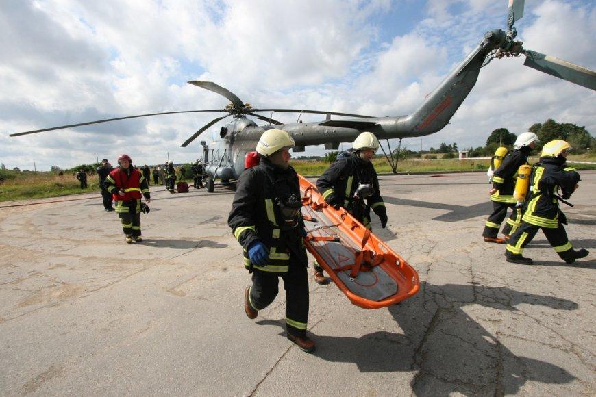 Sraigtasparnio avarijos pratybos