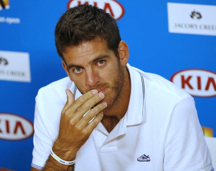 """Juanas Martinas del Potro nežais """"Australian Open"""" turnyre"""