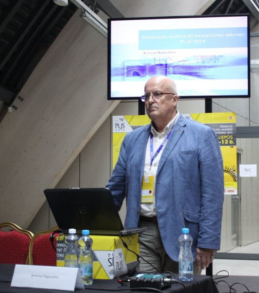 KTU profesorius Arminas Ragauskas Pasaulio lietuvių jaunimo susitikime