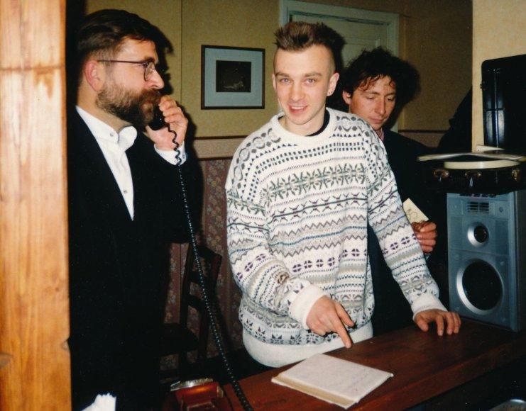 Asmeninio albumo nuotr./Vytautas Kernagis ir Andrius Mamontovas 1995 metais