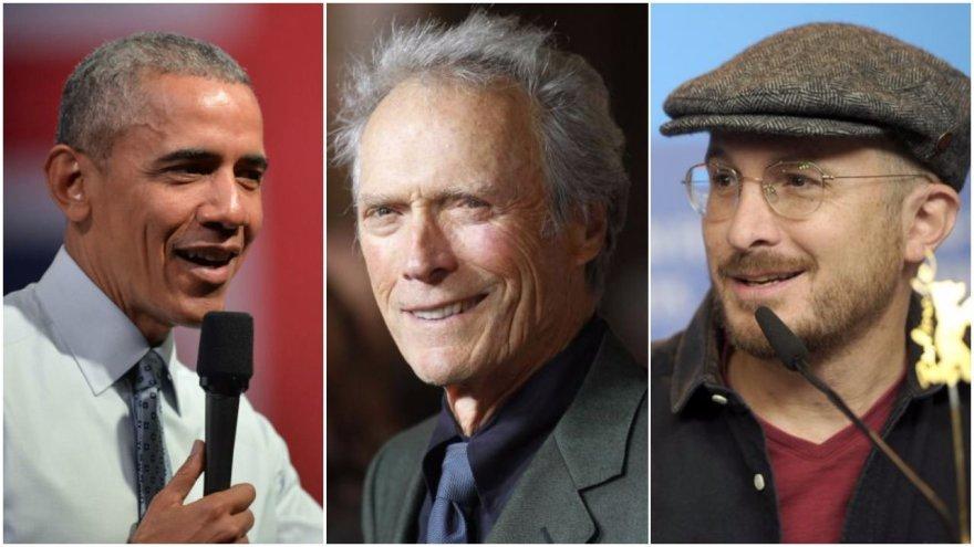 B.Obama,  C.Eastwoodas, D.Aronofsky / fotomontažas