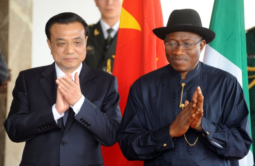 Kinijos premjeras Li Keqiangas ir Nigerijos prezidentas Goodluckas Jonathanas