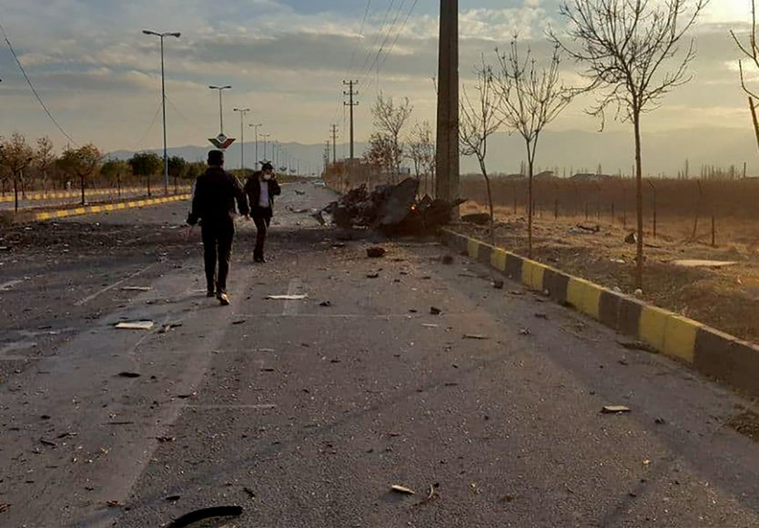 """AFP/""""Scanpix"""" nuotr./Mohseno Fakhrizadeh nužudymo vieta"""