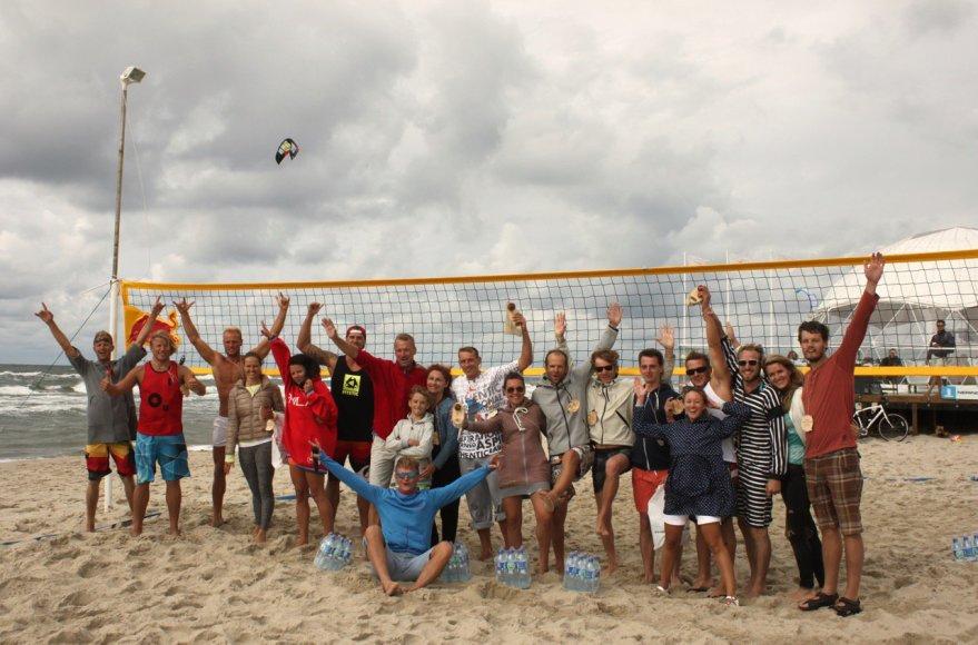 """""""Neringa FM Beachball CUP"""" tinklinio rungtynių akimirka"""
