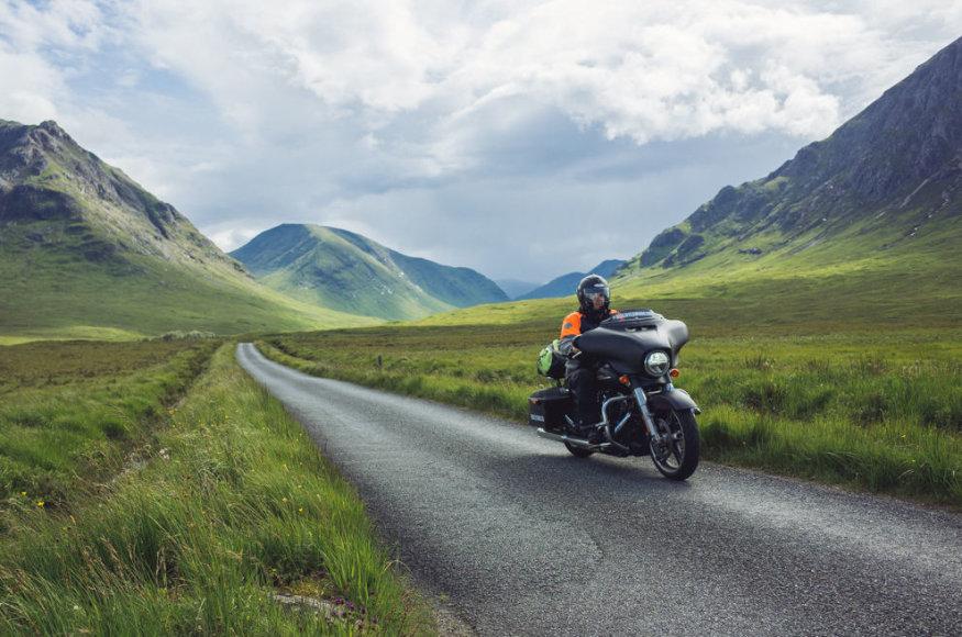 """Kelionė """"Harley-Davidson"""" motociklu"""