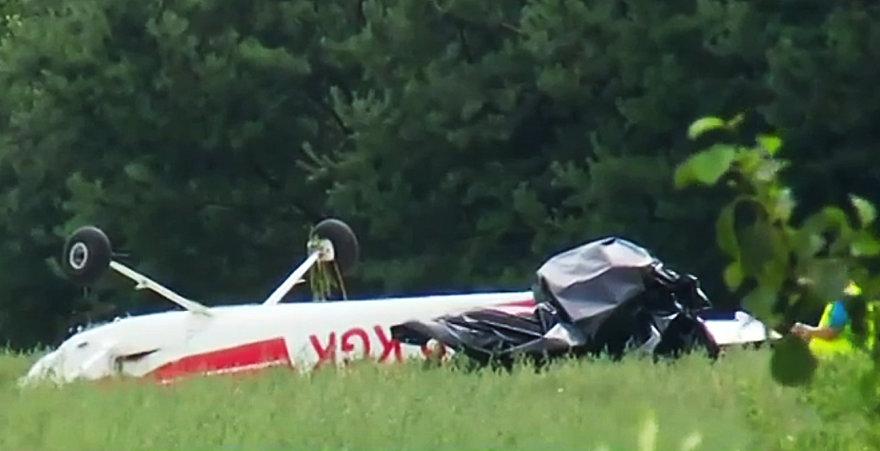 Sudužęs lėktuvas netoli Lenkijos Radomo miesto