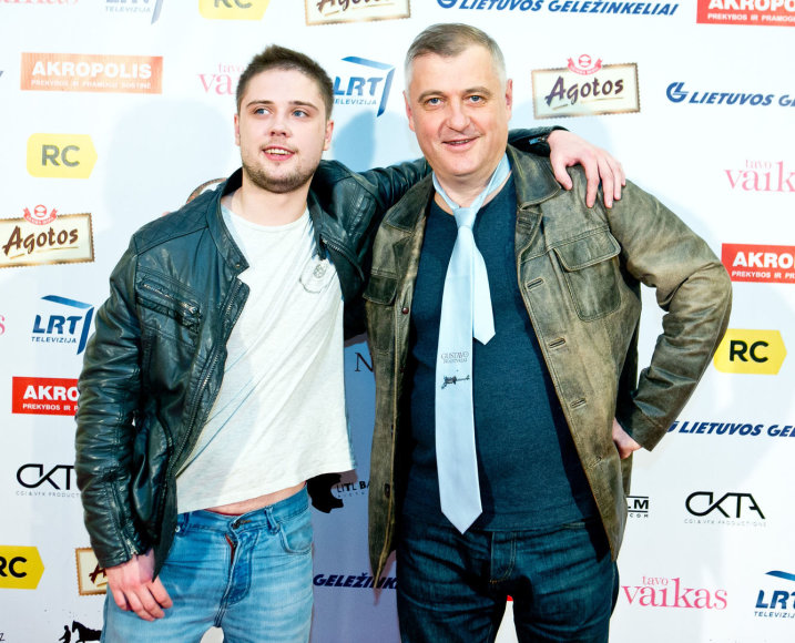 Audrius Rakauskas  su sūnumi Augustu