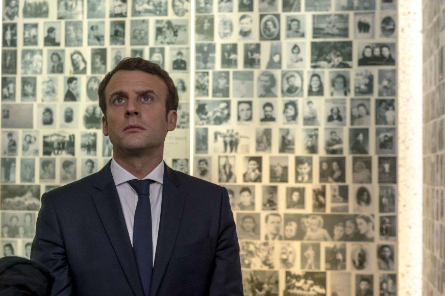 Emmanuelis Macronas Šoa memoriale Paryžiuje