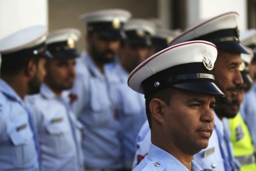 Policijos pareigūnai Bahreine