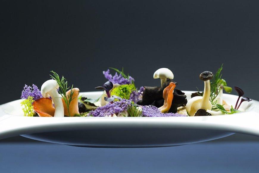 Restorano archyvo nuotr./Garintas karvės pieno sūrio kremas su grybais