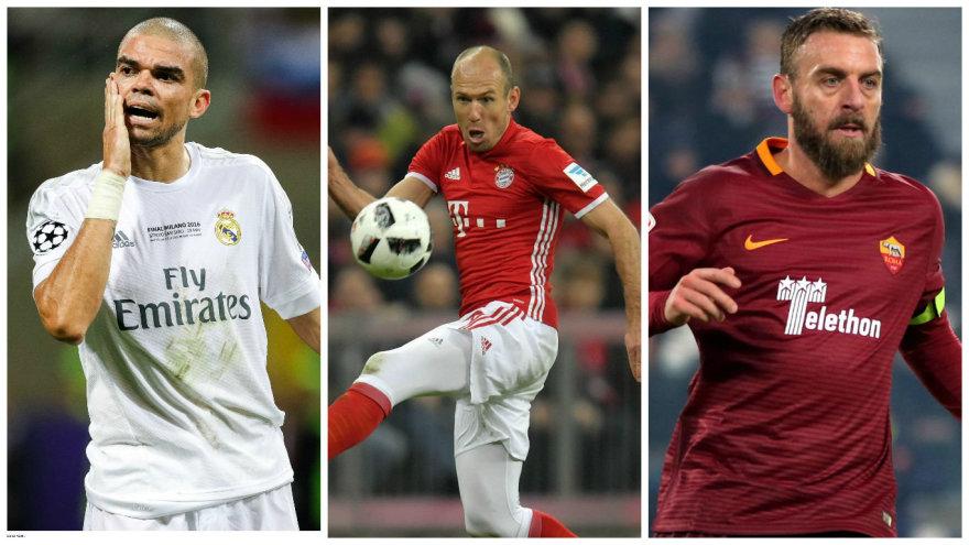 Pepe, Arjenas Robbenas ir Daniele de Rossi