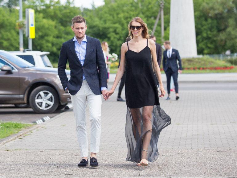 Šarūnas Vasiliauskas su žmona Martyna