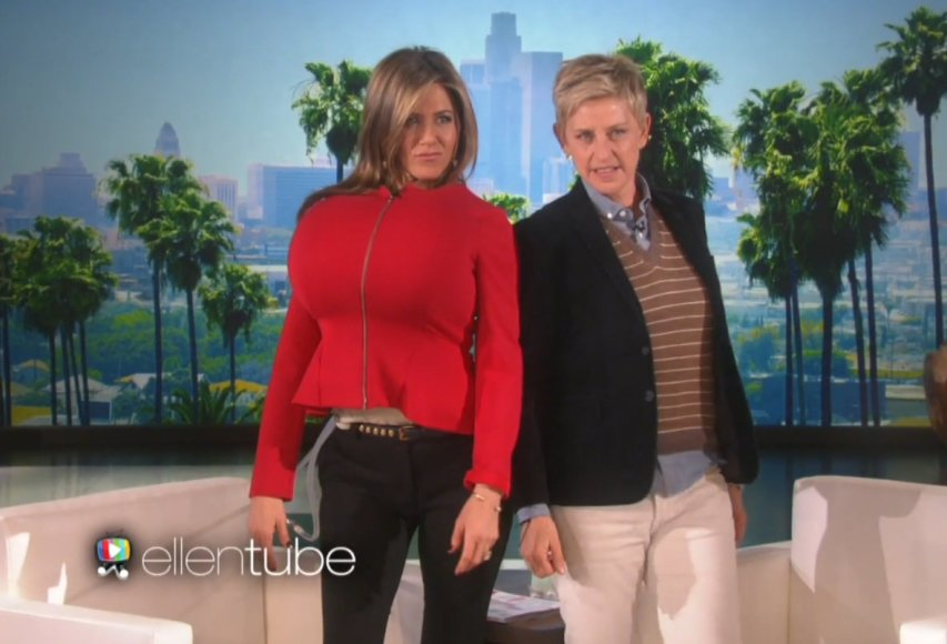 Jennifer Aniston ir Ellen DeGeneres