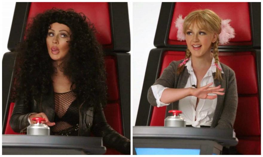 Christina Aguilera parodijuoja Cher ir Britney Spears