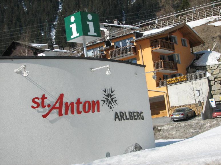 Austrijos kalnų slidinėjimo kurortas St.Antonas