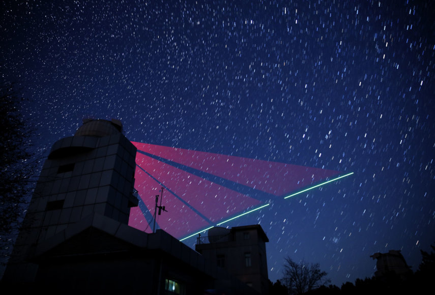 """Antžeminė laboratorija užmezgė ryšį su palydovu """"Micius"""""""