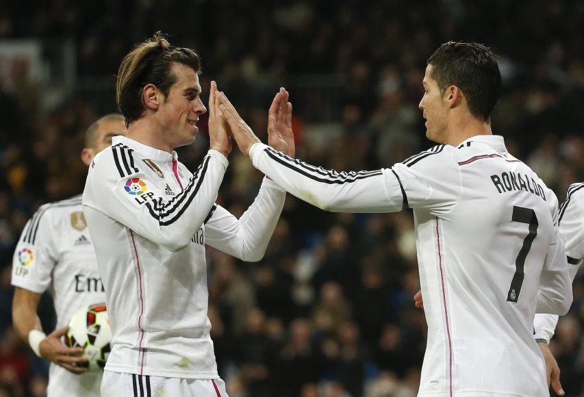 Garethas Bale'as ir Cristiano Ronaldo