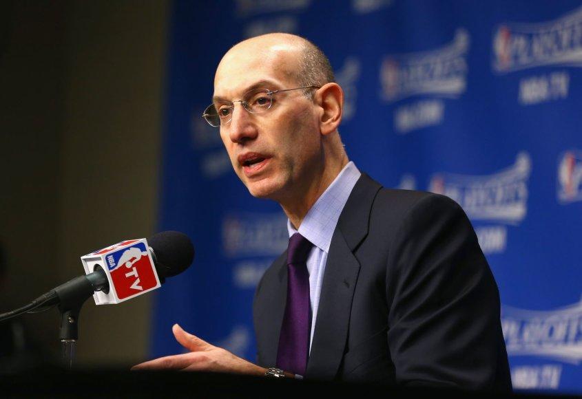 NBA komisaras Adamas Silveris
