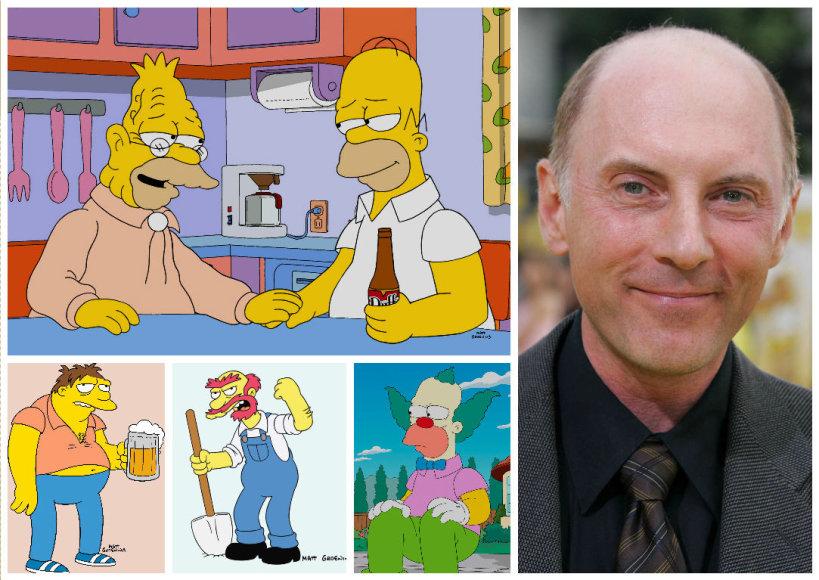 Vida Press nuotr./Danas Castellaneta, įgarsinantis Houmerį Simpsoną, senelį Abraomą Simpsoną, klouną Traškį, Barnį, mokyklos prižiūrėtoją Vilį ir kt.