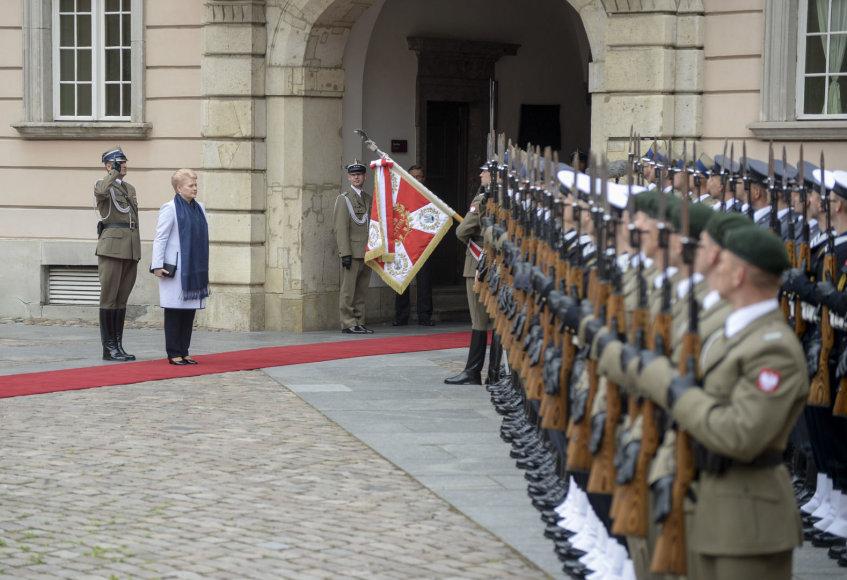 Dalia Grybauskaitė Varšuvoje