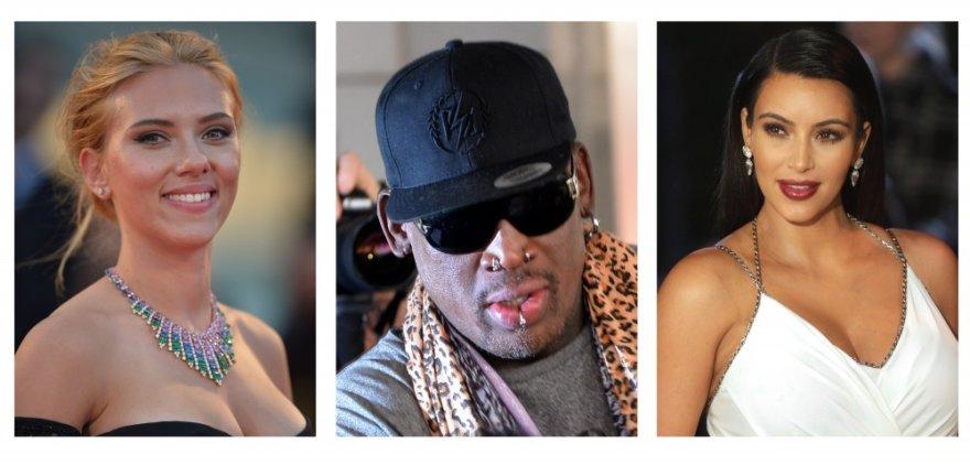 Scarlett Johansson, Dennisas Rodmanas ir Kim Kardashian