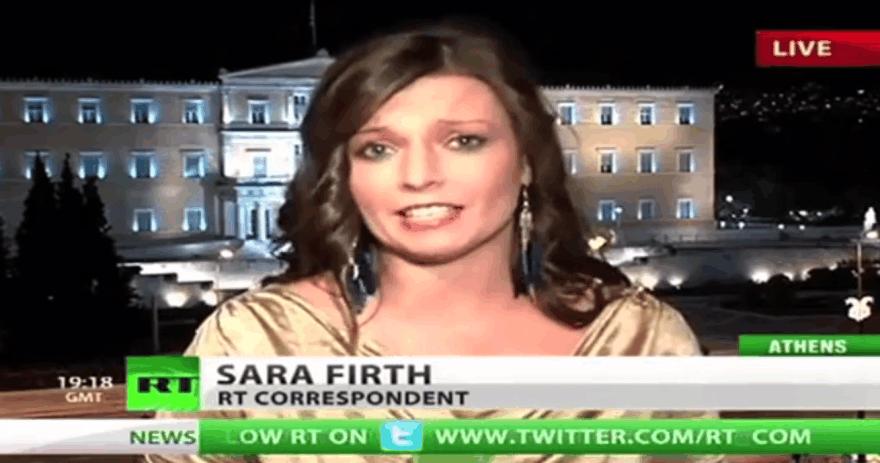 """Iš Rusijos televizijos """"Russia Today"""" išėjo penkerius metus čia dirbusi žurnalistė Sara Firth"""