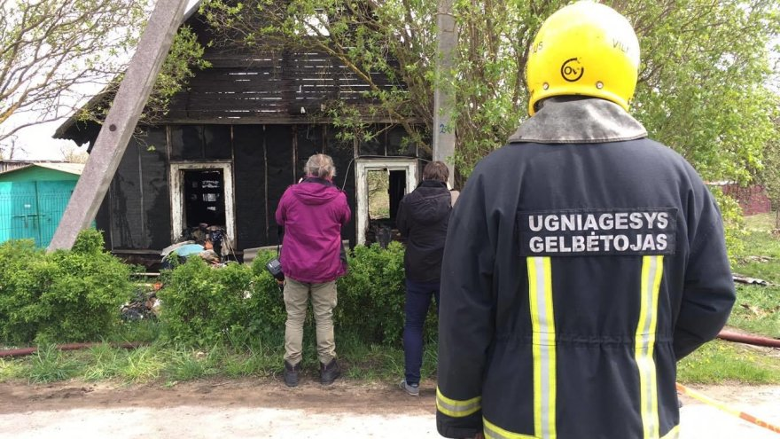 Gaisras Vilniuje pareikalavo dviejų žmonių gyvybių