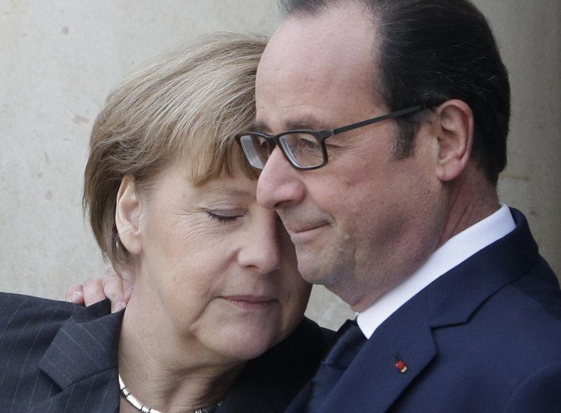 Angela Merkel ir Francois Hollande
