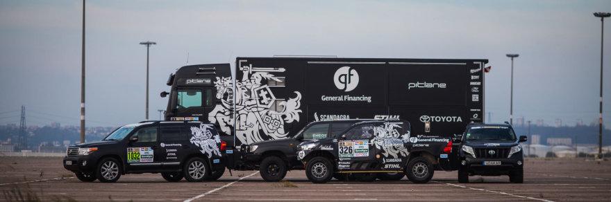 """General Financing team Pitlane"" komandos technika"