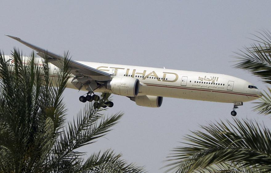 """Oro linijų """"Etihad"""" lėktuvas"""