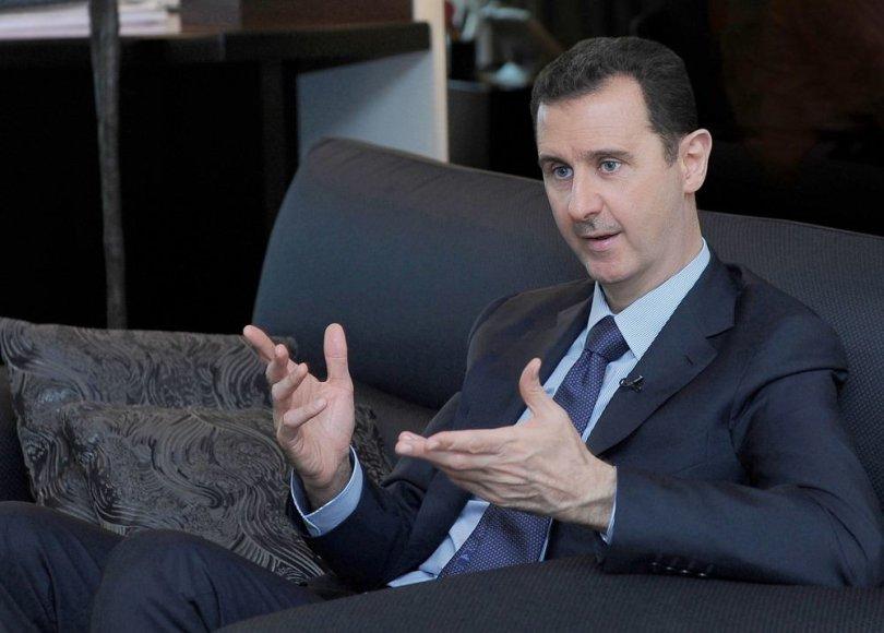 Rusijos žurnalistų kalbinamas Sirijos prezidentas Basharas al Assadas