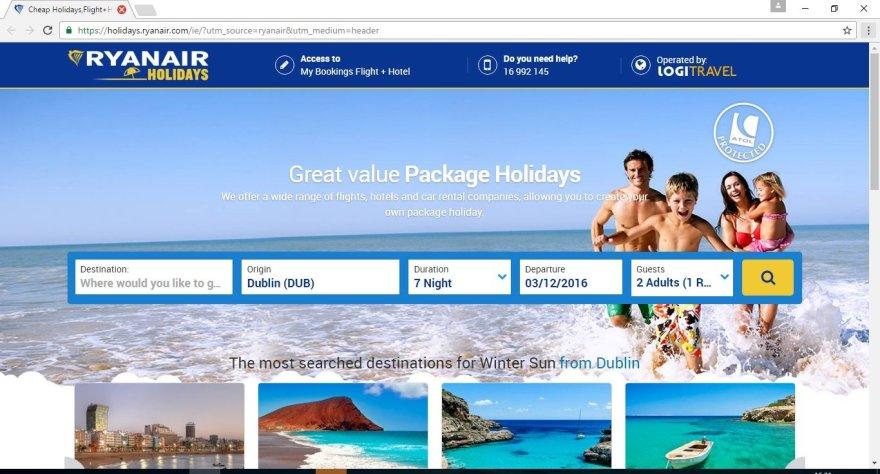 Savo interneto puslapyje skrydžių bendrovė siūlo ne tik skrydžių bilietus