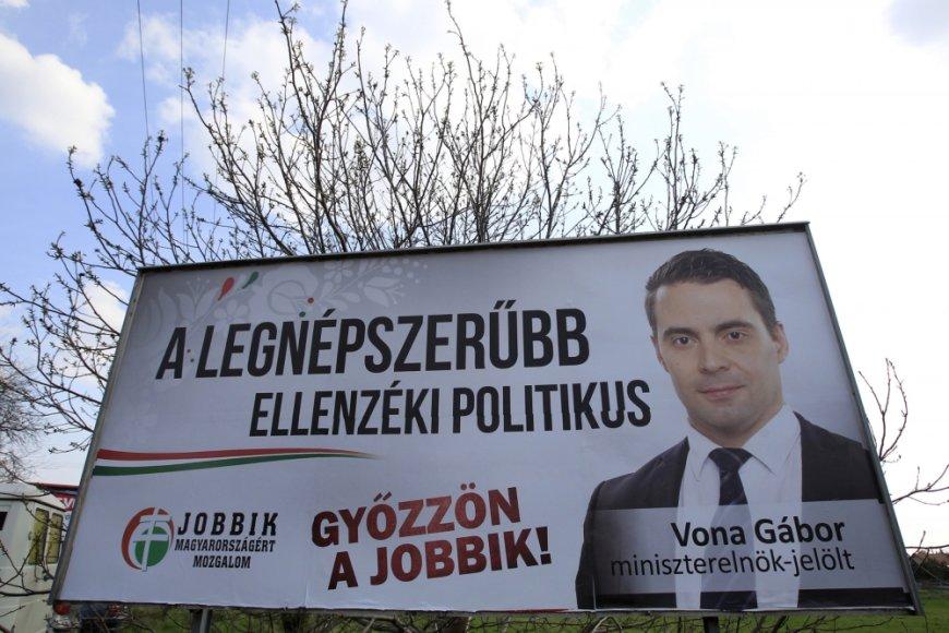 Jobbik rinkimų plakatas prieš Vengrijos parlamento rinkimus