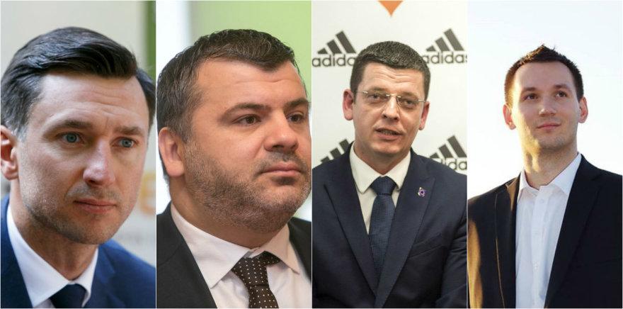 Deividas Šemberas, Rimvydas Čekavičius, Artūras Gimžauskas ir Karolis Kalvaitis
