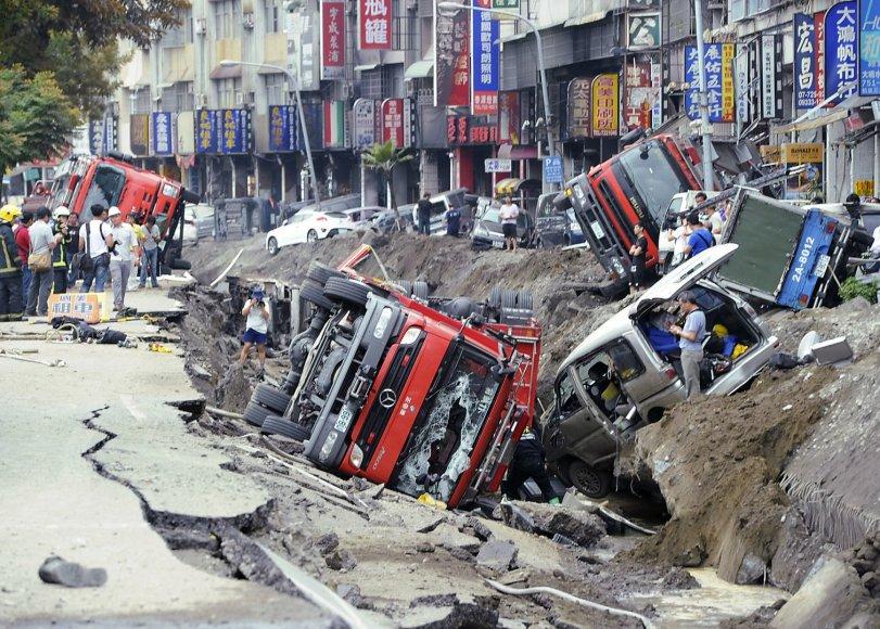 Sprogimas pietiniame Taivano mieste Gaosiunge