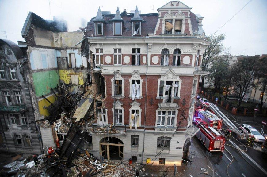 Sugriuvęs gyvenamasis namas Katovicuose