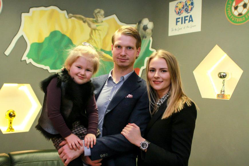 Giedrius Arlauskis su šeima