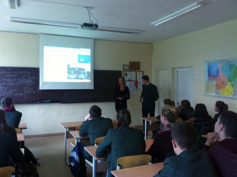 Susitikimas su Klaipėdos moksleiviais