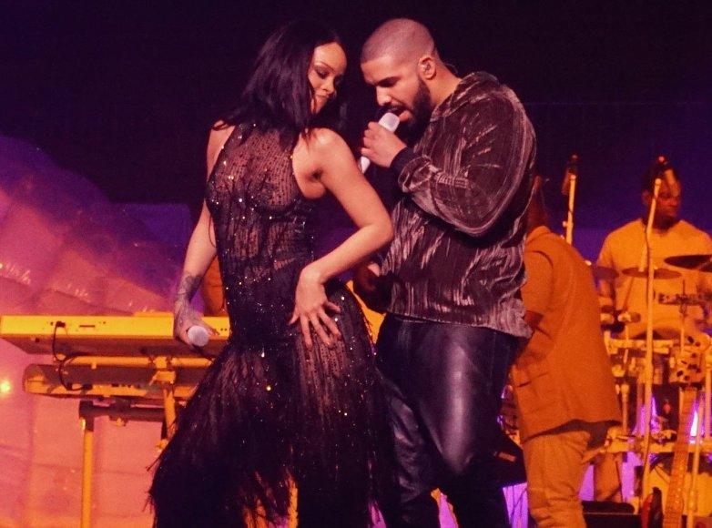 Vida Press nuotr./Rihanna ir Drake'as