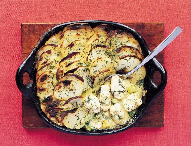 Bulvių ir žuvies apkepas