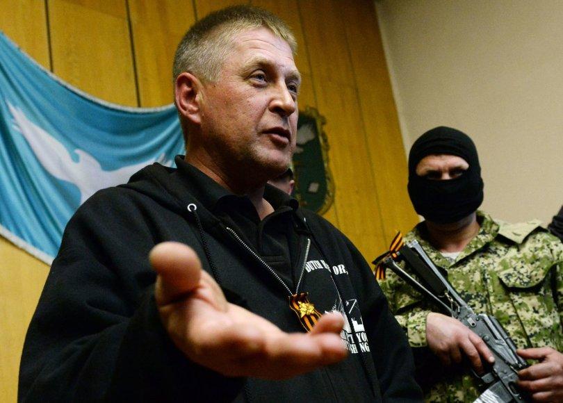 Slovjansko separatistų vadas Viačeslavas Ponomariovas