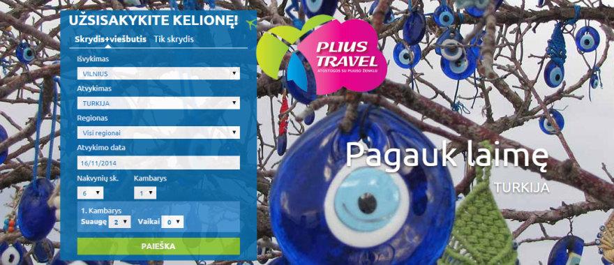 """""""Plius Travel"""" svetainė"""