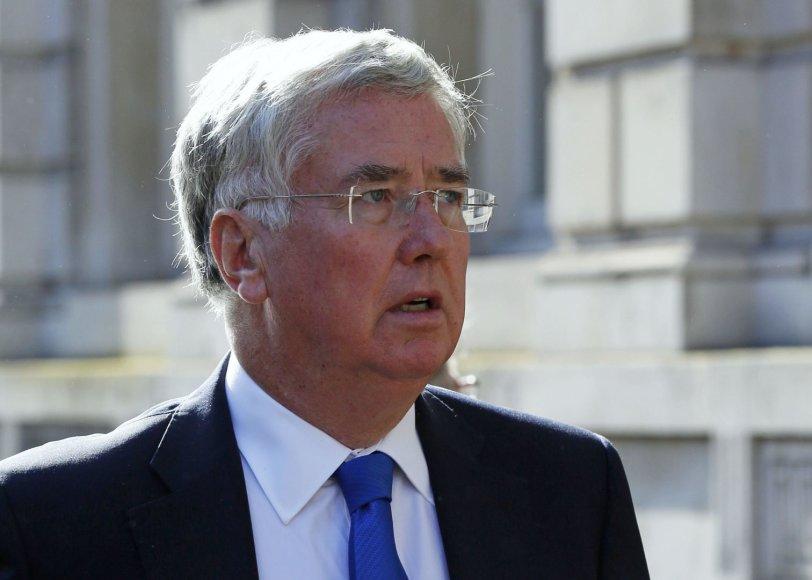 Didžiosios Britanijos gynybos sekretorius Michaelas Fallonas