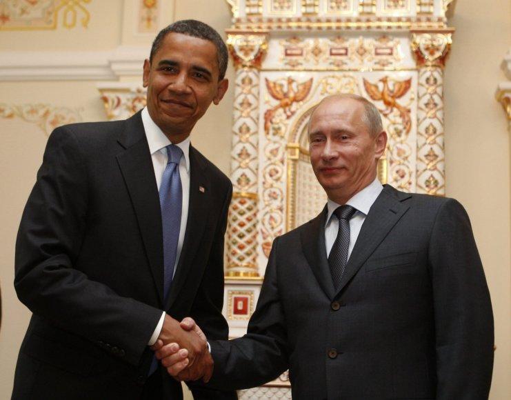 Barackas Obama ir Vladimiras Putinas Maskvoje (2009)