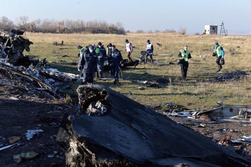 """Nyderlandų ir ESBO ekspertai """"Malaysia Airlines"""" lėktuvo katastrofos vietoje"""