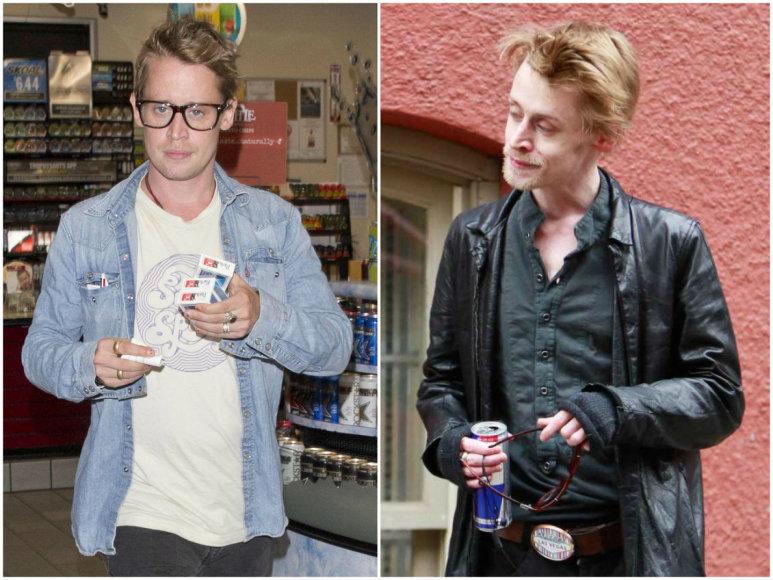 Taip Macaulay Culkinas atrodo šiandien ir 2012 metais (dešinėje)