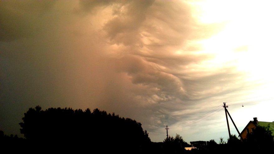 Audros debesis Vilniuje