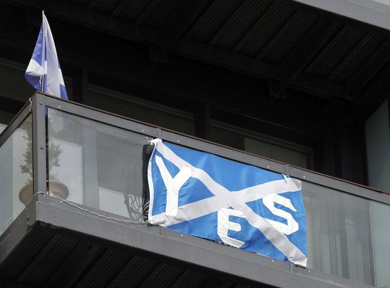 Škotijos nepriklausomybės rėmėjo vėliava