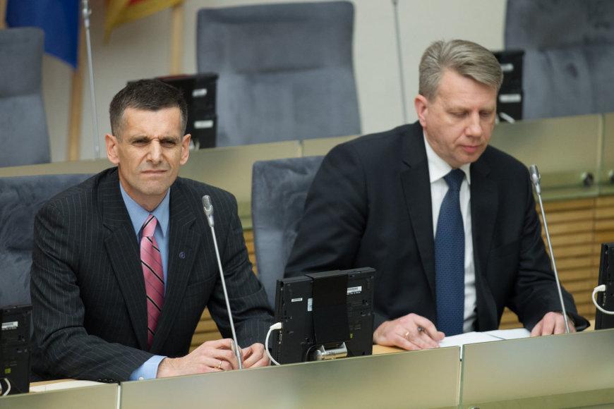 Generalinis prokuroras Darius Valys ir Valstybės saugumo departamento (VSD) vadovas Gediminas Grina