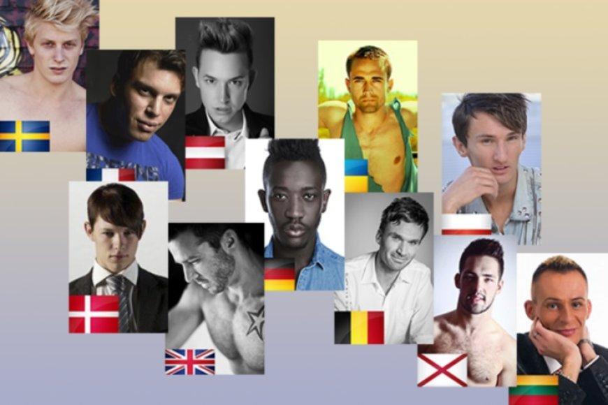 """""""Mr Gay Europe"""" konkurse Lietuvai atstovausiantis Mindaugas Grudzinskas (dešinėje)"""